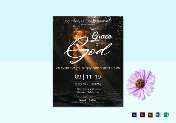 grace of god flyer template in ipages for mac