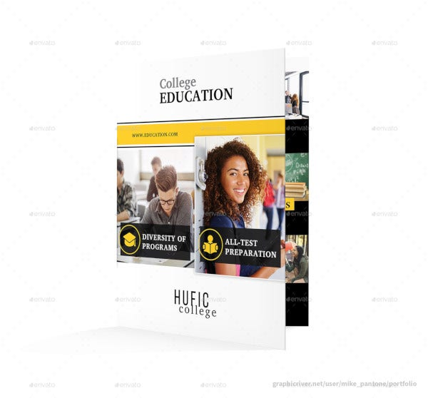 graduation higher education bifold brochure