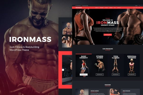 gym fitness bodybuilding theme