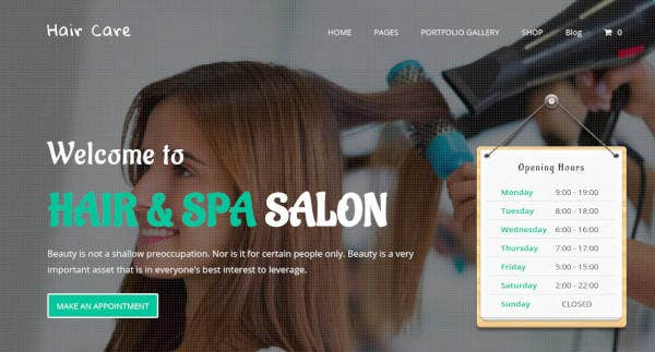 hair care – creative multi purpose website theme