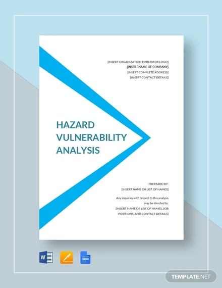 hazard vulnerability analysis template