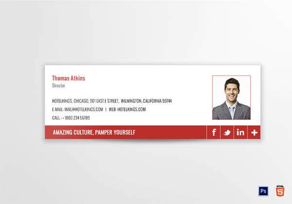 hotel director email signature template