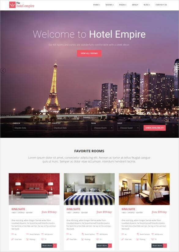 24+ Hotel Bootstrap Themes & Templates | Free & Premium