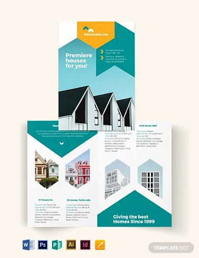 house for sale bi fold brochure template