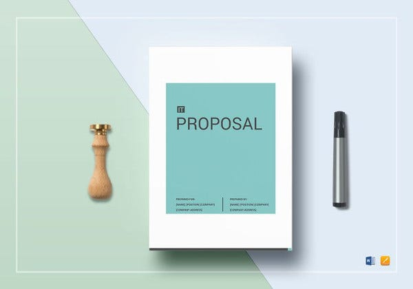 it proposal word template to print