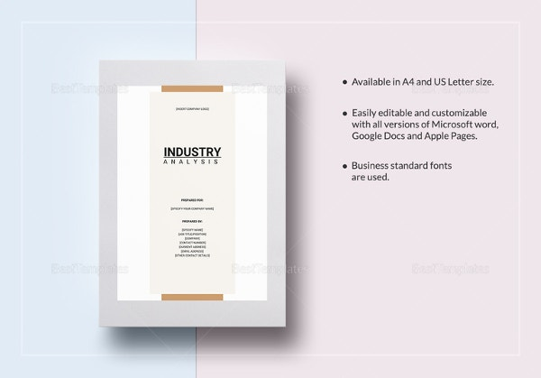 Industry Analysis Template   Free Word Pdf Format Download