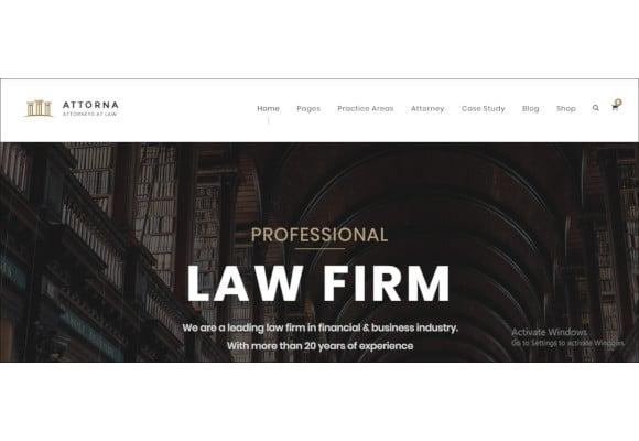 lawyer attorney wordpress theme for law firm