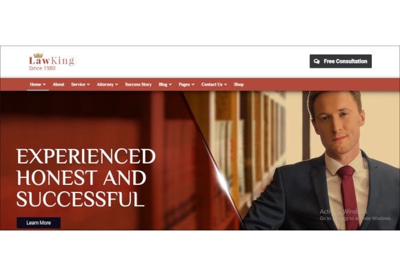 lawyer and attorney responsive wordpress theme