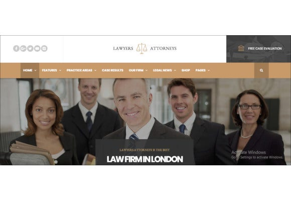 lawyers office wordpress theme