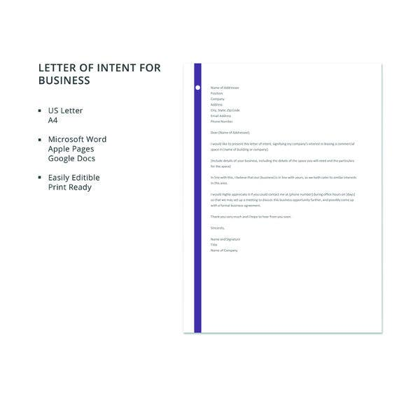 50 business letter templates pdf doc free premium templates letter template of intent for business cheaphphosting