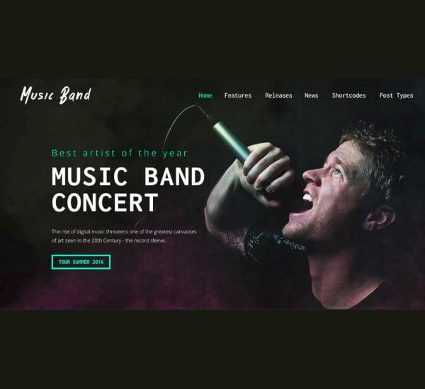 live event wordpress music band