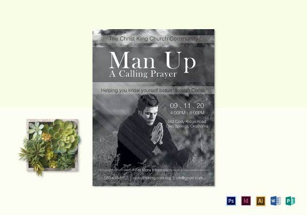 man up church flyer template to print