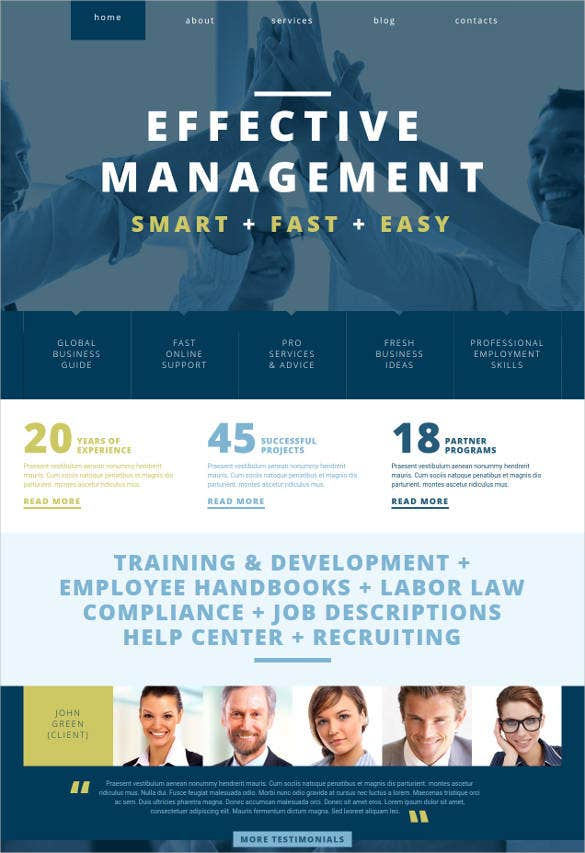 management company php responsive theme