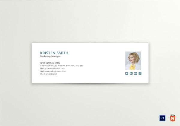 marketing manager email signature template