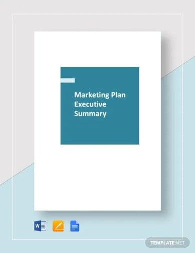 marketing plan executive summary template1