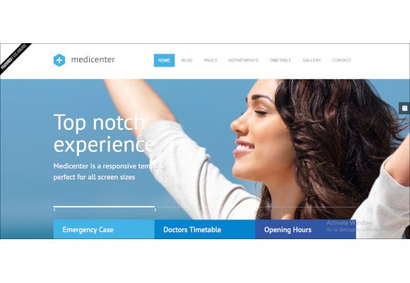 medicenter health medical clinic template