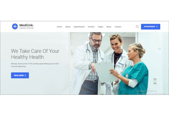 medilink health medical bootstrap template