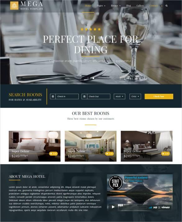 mega hotel booking bootstrap theme1
