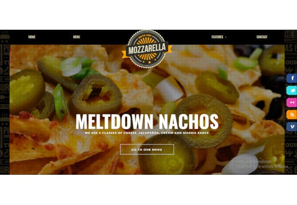 mozzarella php html cafe bar template