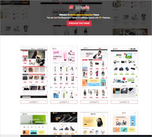 multipurpose portfolio opencart theme