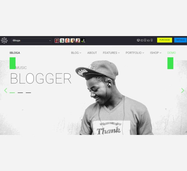 music literary art professional blog template