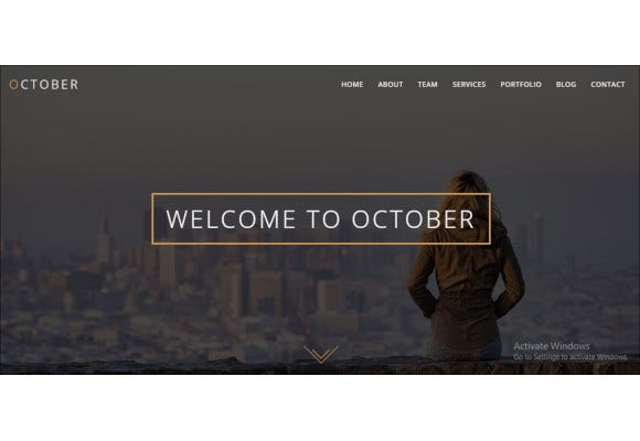 one page responsive wordpress website theme