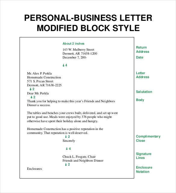 Superior Blocked Style Business Letter