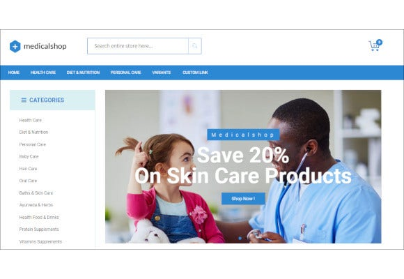 pharmacy and medical magento responsive theme