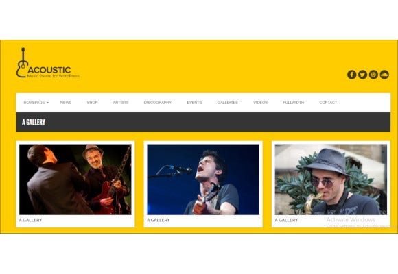 premium music php theme