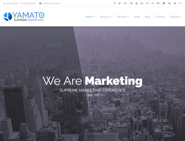 premium portfolio responsive marketing joomla template