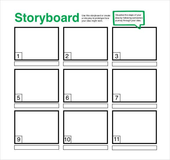 Printable Empty Storyboard