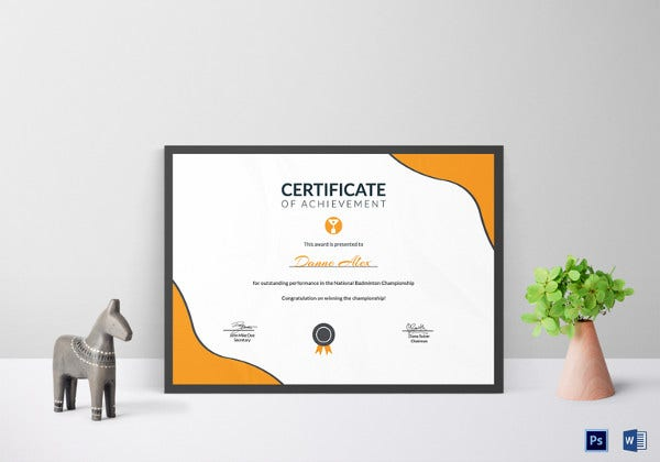 printable prize achievement certificate template