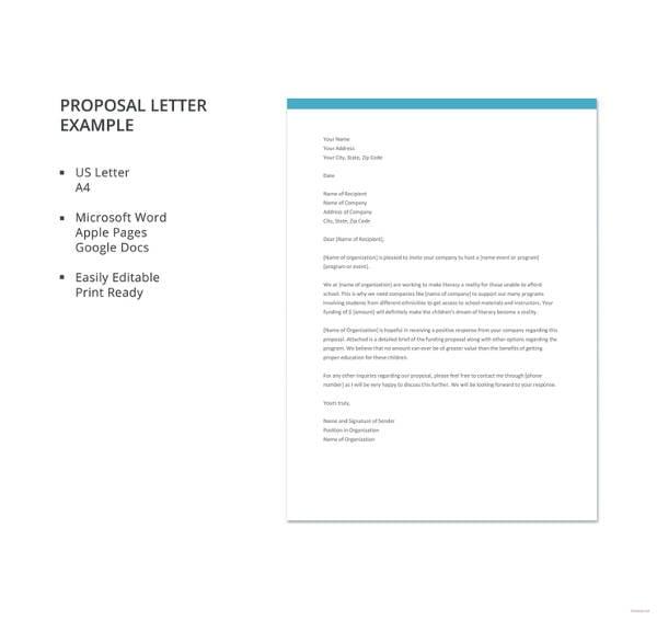 27+ Proposal Letter Templates - DOC, PDF | Free & Premium Templates