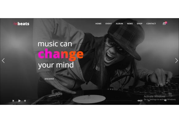 responsive dj music php theme