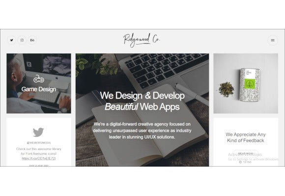 responsive html5 portfolio for creatives