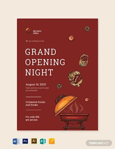 restaurant invitation card template