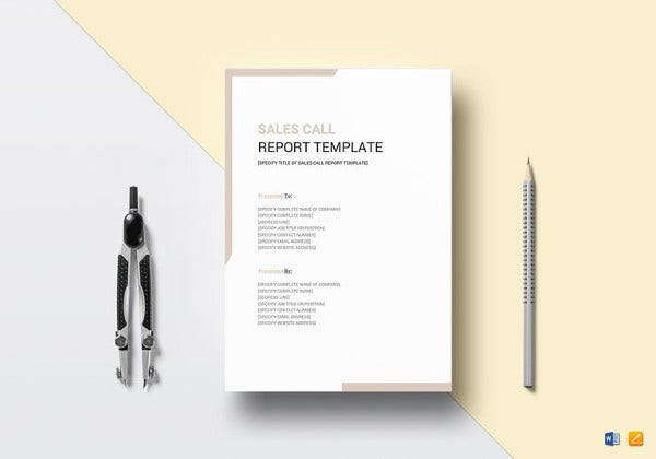 sales call report template in word