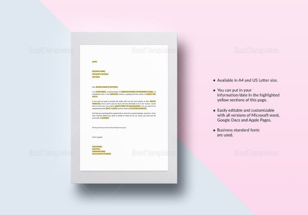Sales letter template word teacheng sales spiritdancerdesigns Image collections