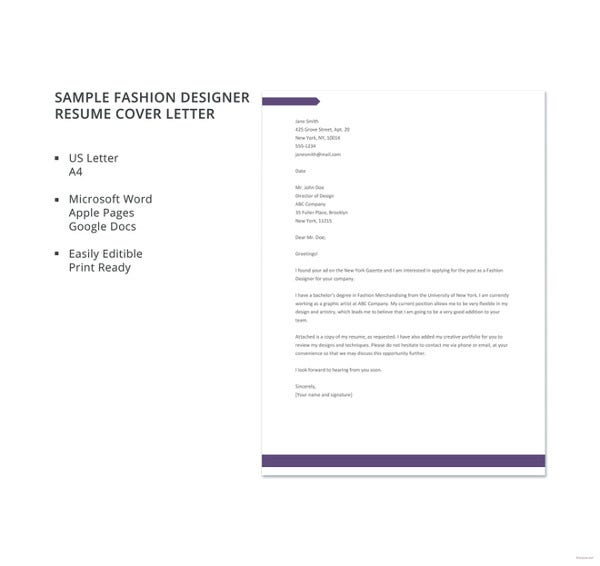Resume Cover Letter - 23+ Free Word, PDF Documents Download | Free ...