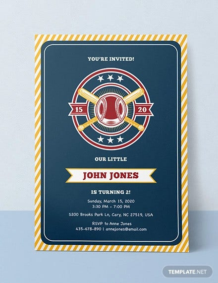simple baseball invitation template1