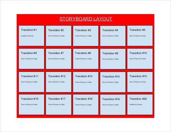 storyboard-layout-template