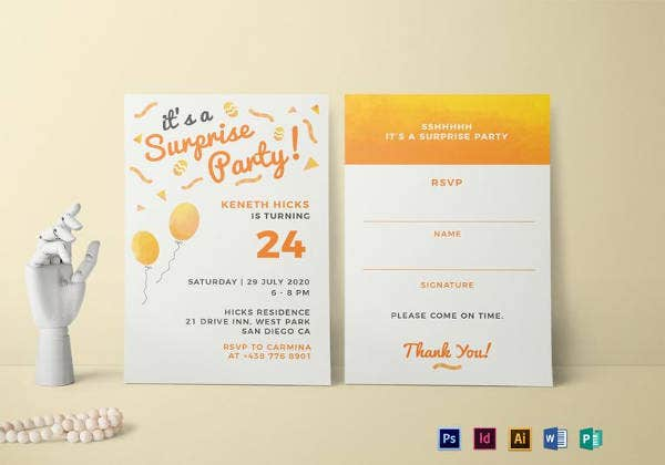 surprise birthday party invitation template download