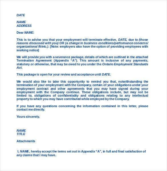 Free Termination Letter Template 31 Free Sample Example – Address Change Letter Template