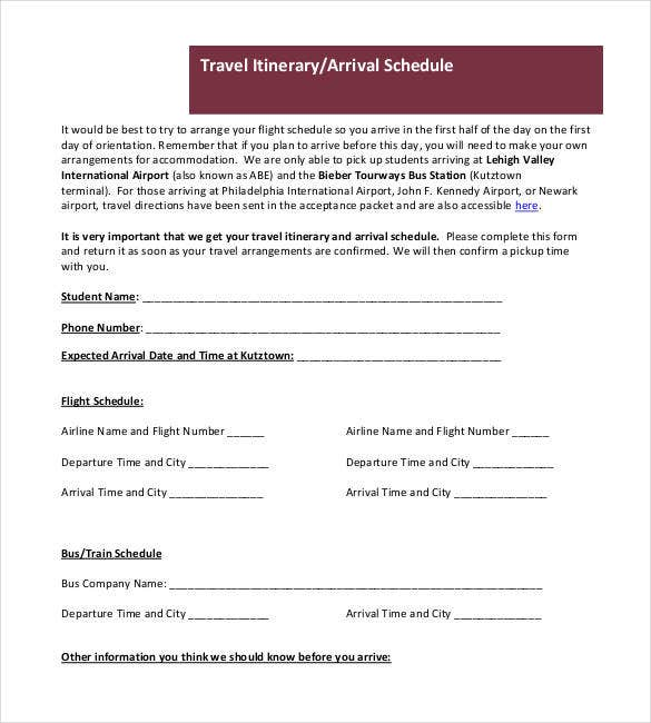 travel-itinerary-arrival-schedule