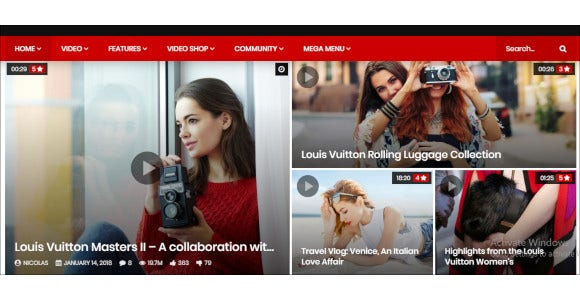 video news website php wordpress theme