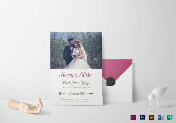 vintage journey wedding invitation template download