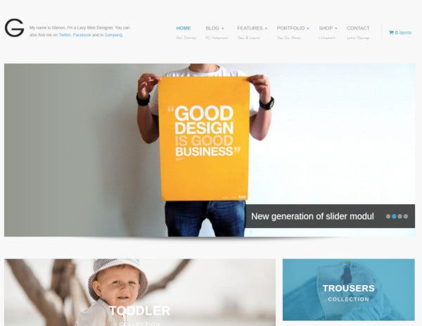 virtuemart kids fashion joomla template