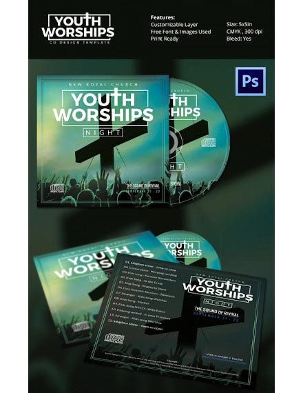 youth worship night cd cover designs