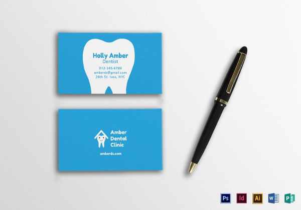 Dentist dental clinic business card template 40 free psd format dental business card template in illustrator indesign format flashek Images