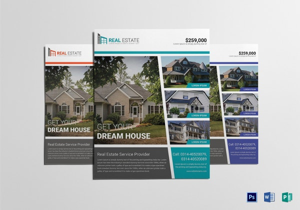 Real Estate Flyer Template Free PSD AI Vector EPS Format - Commercial real estate brochure template